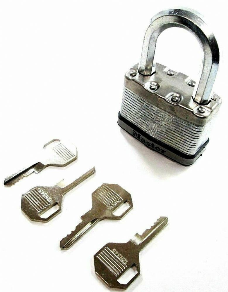 Master Lock M15DLF 64mm Excell Laminated Security Padlock with 4 x Keys